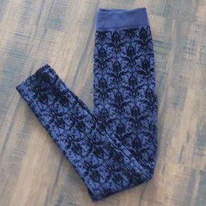 Velvet Burnout leggings- Never worn